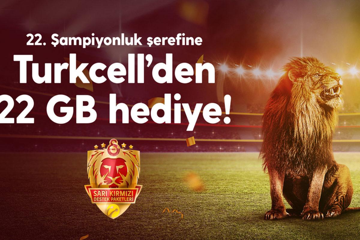 22. şampiyonluğa Turkcell'den 22 GB internet