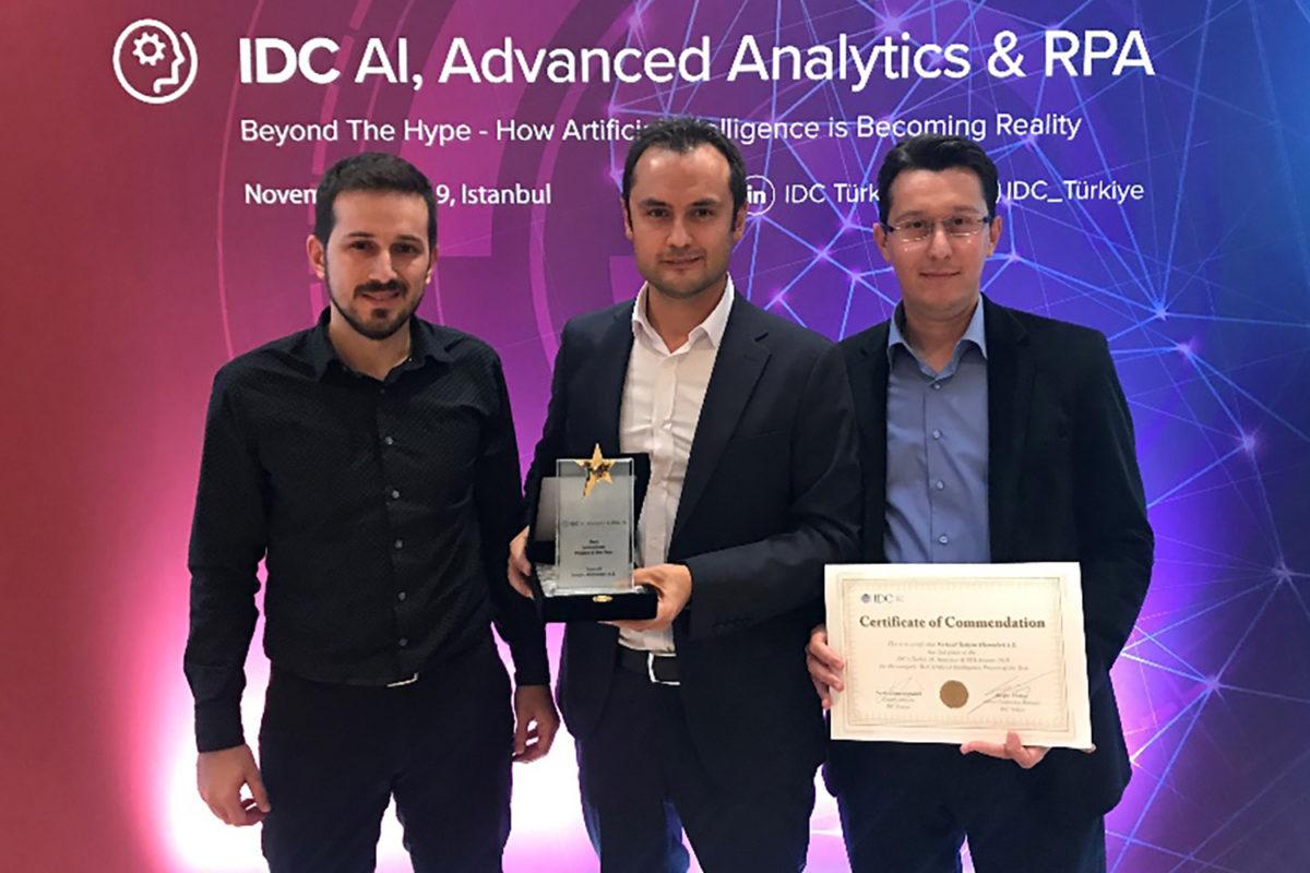 Turkcell IDC AI, Advanced Analytics & RPA Conference 2019'da 2 ödüle layık görüldü