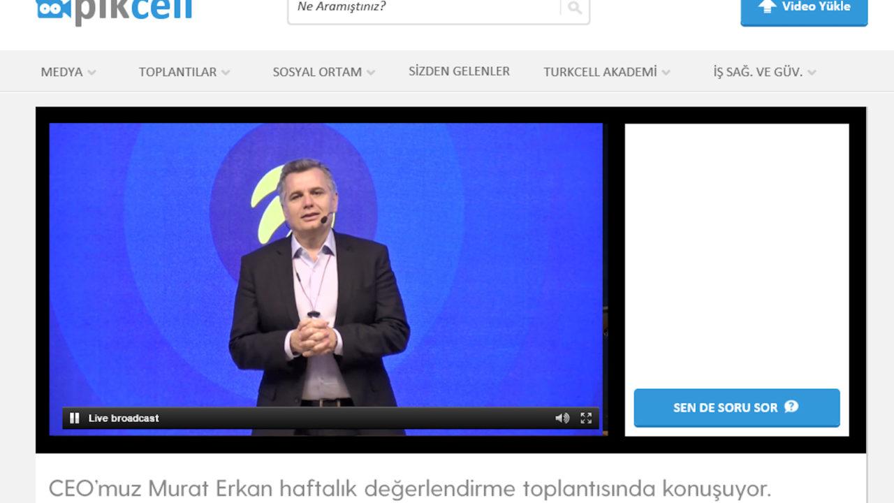 Murat Erkan 5 bin Turkcell çalışanı ile video konferansla toplantı yaptı