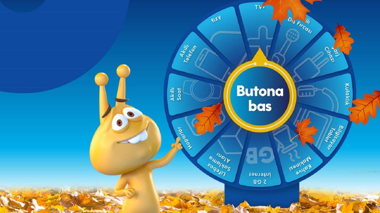 Şanslı Çark oyununda 80 bin GB internet ve on binlerce ödül katılımcıları bekliyor
